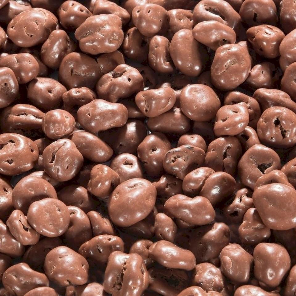 Biologische chocolade rozijnen melk