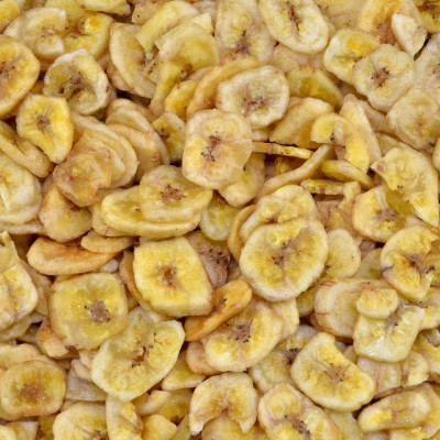 Biologische bananen chips