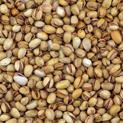 Gebakken pistachenoten in dop gezouten
